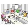 verschiedene Menschen bei einer Besprechung